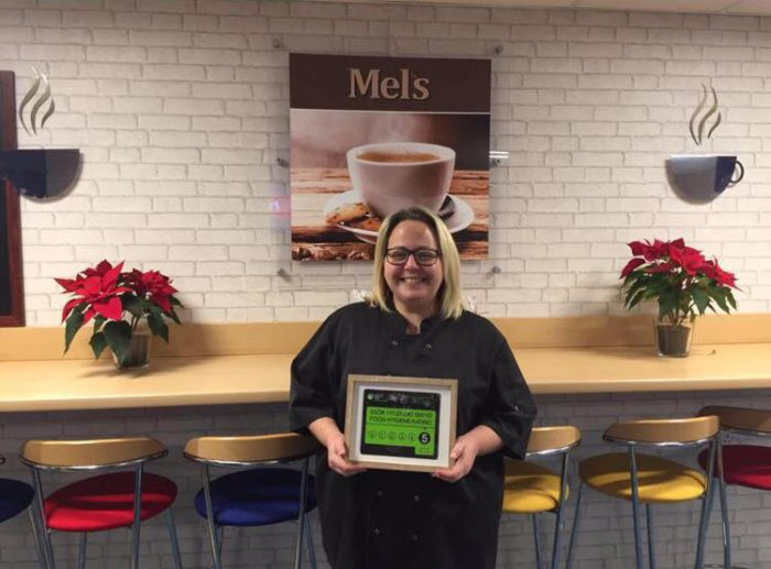 Mel's Cafe and her hygiene rating